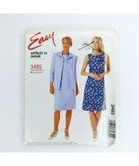 Easy Stitch N Save 3485 Mccall's  Pattern Misses Petite Dress Shirt Jack... - $9.89