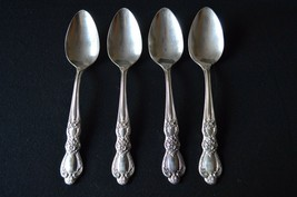 1847 Rogers Bros Heritage 1953 Set of 4 Oval Soup/Place Spoons Mono M - $13.86
