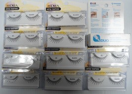 (10 Pairs) Andrea Strip Lashes Fashion Eye Lash Style 62 Black + Free Glue - $28.99