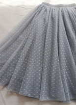 GRAY MIDI Tulle Skirt Women's High Waist Tulle Midi Skirt Bridesmaid Tulle Skirt image 2