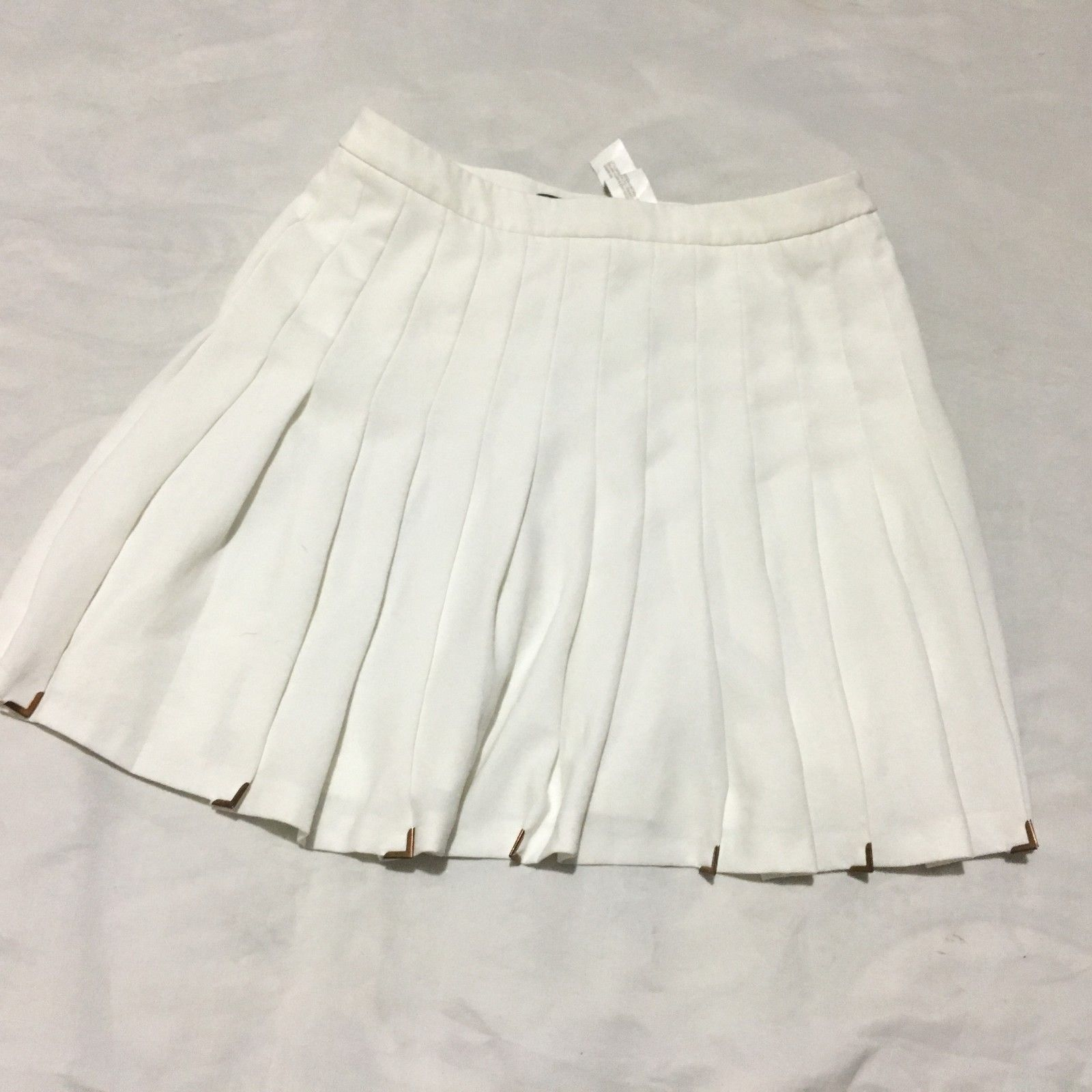 a21925a3e8 Zara Woman White Pleated Mini Skirt Womens and 50 similar items. S l1600