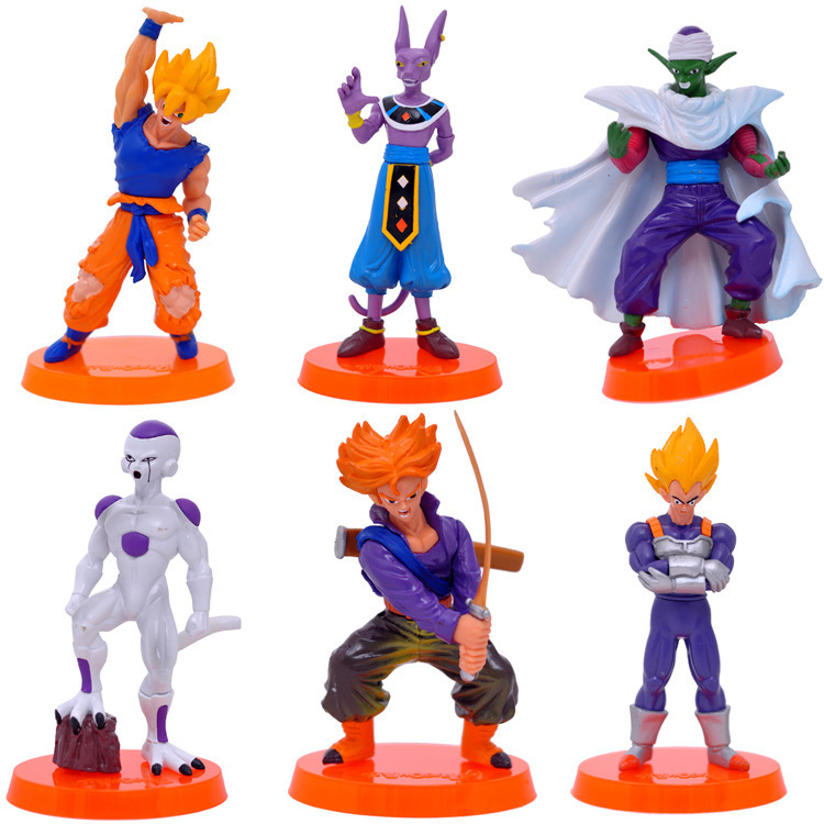 S animation model seven dragon ball h 55 generation 6doll set decoration doll toy action figures