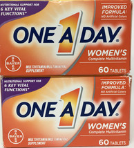 LOT of 2 One A Day Multivitamin Womens Formula 60 Tablets Per Box Exp 06/21 - $13.37