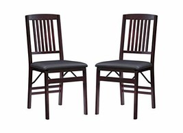 Linon Triena Mission Back Set of 2 Folding Chair, 17' w x 20' d x 36' h, Brown - $132.56