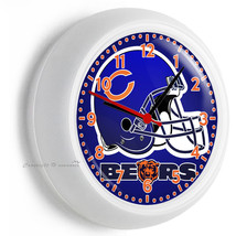 Chicago Bears Nfl Football Team Logo Wall Clock Man Cave Boys Bedroom Art Decor - $21.05