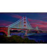 Golden Gate Neon, Fine Art Photos, Paper, Metal, Canvas Prints - $40.00