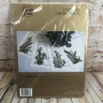 Nuovo Something Special Kit Punto Croce Set Di 4 Molla Fiore Posto Tappe... - $16.98