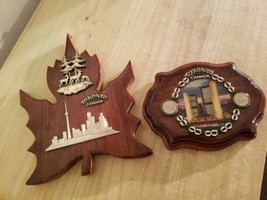 TWO TORONTO CANADA WOODEN WALL PLAQUES.MADE IN CANADA. - $18.69
