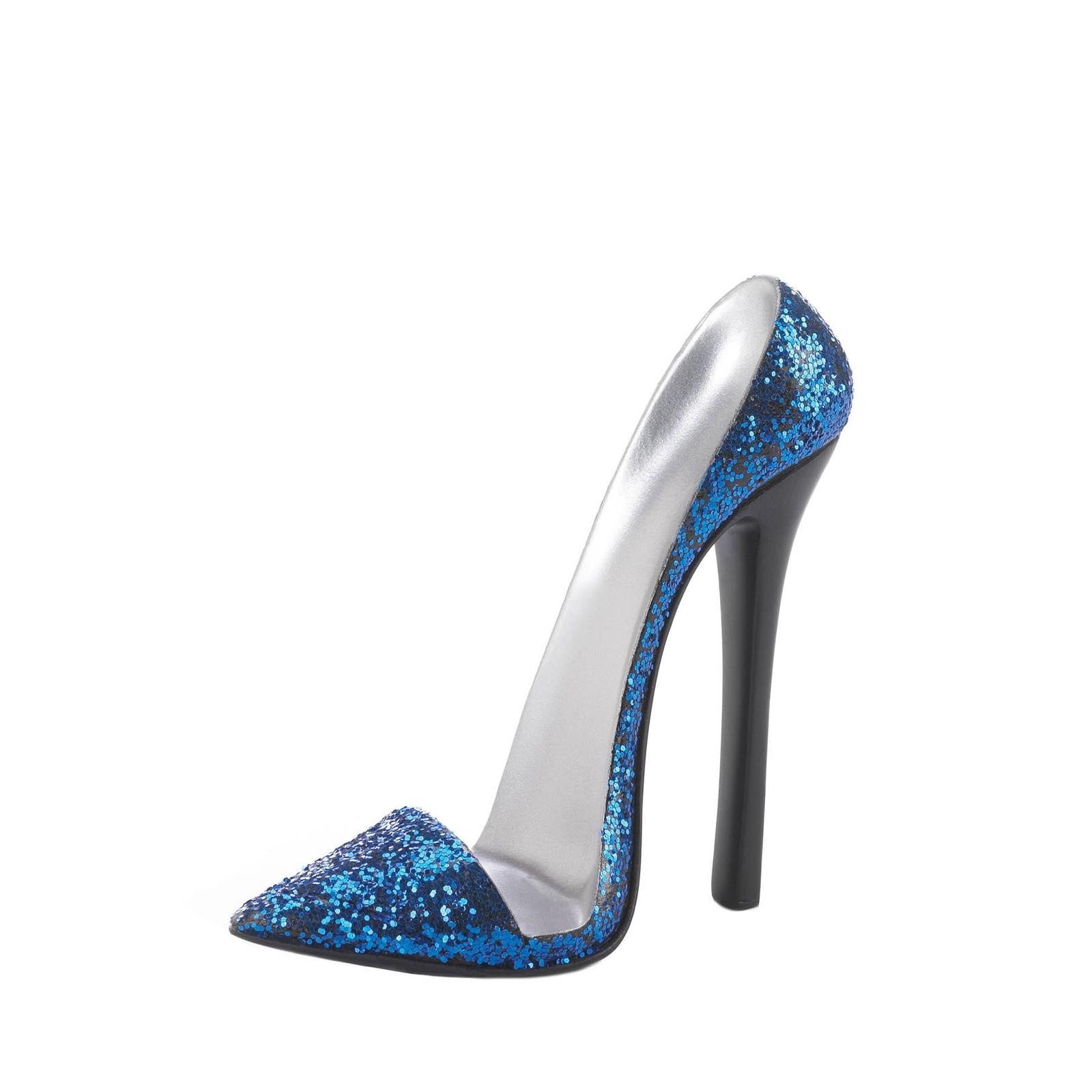 SPARKLE BLUE SHOE PHONE HOLDER Chic High Heel Mobile Cell Stand Gift