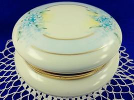T&V Limoges Iridescent Powder Trinket Vanity Jar w Lid Signed Nelle Jack... - $83.17