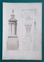 ATHENS Greece Lysicrates Monument Corinthian Order - 1905 Heliogravure P... - $26.96