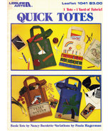 QUICK TOTES TO MAKE WITH 1 YARD OF FABRIC LA. 1041 - $3.50