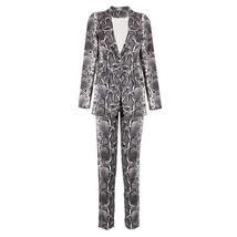 Women's High Fashion Runway Snakeskin Print 2 Piece Pant Suit image 4