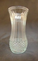 Hoosier Glass Vase 4088-A Diamond Cut Vintage - $14.85