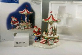 Dept 56 Santa Comes to Town limited to 2004 Snow Village Merry go Round ... - $29.65