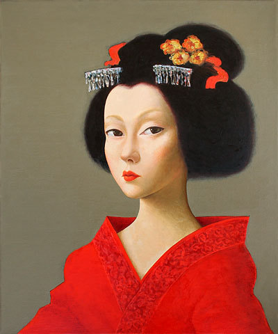 Primary image for Ipalbus, Portrait of a Geisha (3) Original Art Print From an Original Painting