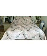 Williams Sonoma JAIPUR PRINTED ORGANIC PINK Duvet Cover Queen PEACOCK  N... - $149.00