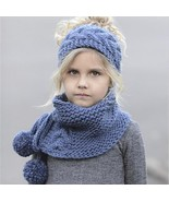 New Baby Hat For Children's Autumn And Winter Wool Knitted Warm Scarf Ha... - $19.99