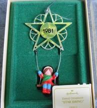 Hallmark Star Swing 1981 Christmas Ornament in Original Box - $14.00
