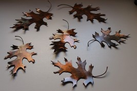 Metal Oak Leaves 6 Natural Look counter/table Top COPPER/BRONZE Plated By Hgmw - $25.73