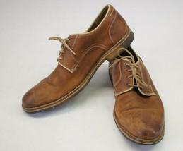 Johnston & Murphy Howell Plain Toe Leather Dress Shoe 25-2266 Men's 10M D18 - $22.90