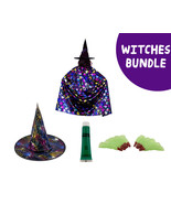 New Witches Halloween Accessory & Makeup Costume Bundle - $8.83