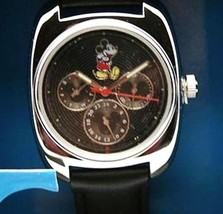 Disney Mickey Mouse Watch Men's Black Day - Date Dial Watch New - $128.65
