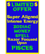 Money Spell Highly Charged Spell For Pisces Millionaire Magic for Luck M... - $47.00