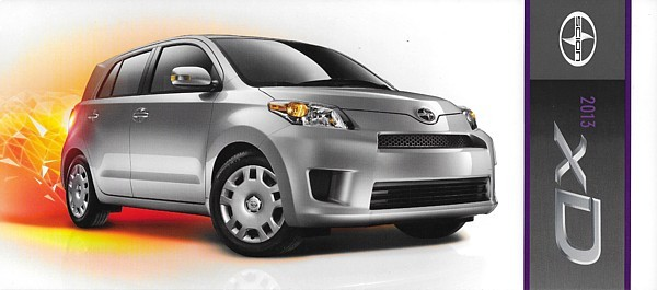 Primary image for 2013 Scion xD sales brochure catalog folder US 13 Toyota ist