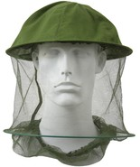 Olive Drab Mosquito Hat Insect Head Net Hoop Mesh Repellent Bugs Flies Bees - $7.79
