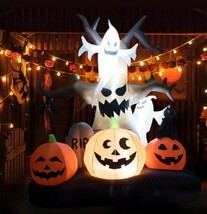 Dead Tree Inflatable Halloween Ghost Pumpkin 10Feet Inflatables Decorati... - $98.11