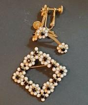 Vintage Hobe Brooch and Earrings  - $64.35
