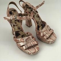 Sam Edelman Taryn Size 6.5 Snakeskin Heels Open Toe Sandals - $29.39