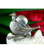 Vintage Bagpipes Hat Ribbons Brooch Pin Scottish Musical Instrument - $24.95