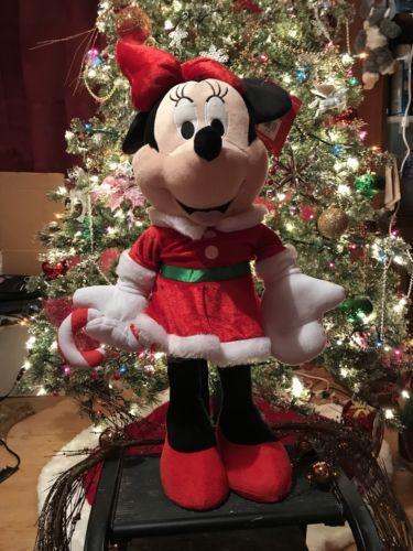 Christmas Minnie Mouse Plush.Disney Minnie Mouse Plush Christmas Greeter And 17 Similar Items