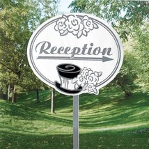 Wedding Reception Cardboard Yard Sign - Wedding Supply Venue Decorations - $12.92