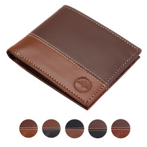 Timberland Men's Genuine Two Tone Leather Credit Card Billfold Commuter Wallet
