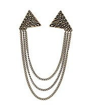 Angle Collar Shirt Collar Pin Collar Chain Brooch Decoration, Retro image 2