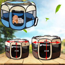 Pet Dog Puppy Cat Kennel Tent Portable Foldable Fence Doghouse Cage Crat... - $56.00