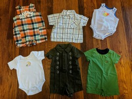 6 - Newborn 0-3 Month Boys Outfits Classic Pooh Baby Gap Carter's Gymbor... - $7.24
