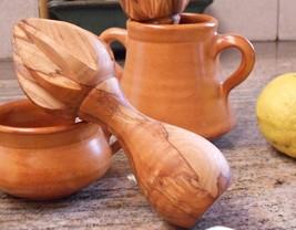 Wooden Lemon squeezer / Olive Wood Citrus Reamer Press Lemon Orange Juicer - ₨1,237.01 INR