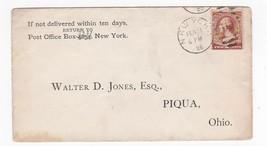 WALTER D. JONES ESQ. NEW YORK NY FEBRUARY 12 1885  - $2.98