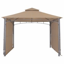 Garden Gazebo with Two Sunshade Wall Curtain Patio Canopy 130'' x 130'',... - $249.99
