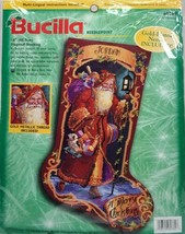 Bucila Needlepoint Kit 60769 Father Christmas Stocking Holiday Toys Pers... - $158.40