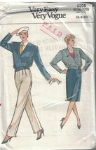 9505 sin Cortar Vogue Costura Patrón Misses Suelto Ajuste Chaqueta Falda... - $4.88