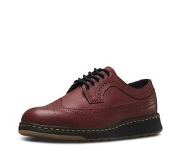 Doc Martens GABE Wingtip Rogue Leather Ox Softwair Sole Cherry Red Shoes MNS NEW - $89.99