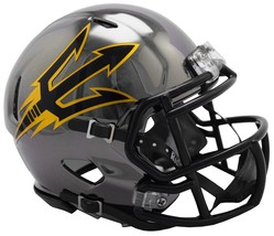 Arizona State Sun Devils Helmet Riddell Replica Mini Speed Style Chrome Alternat - $29.99