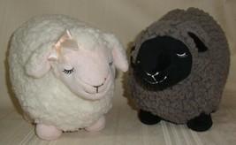 Bath & Body Works Stuffed Sherpa Plush Lamb Sheep Set of 2Gray Black Pink White  - $39.59