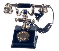 Dollhouse Miniatures Black Classic Telephone #G8638 - $6.99
