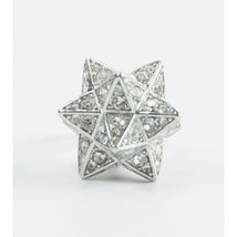 Juicy Couture Silver Crystal Large Moroccan Star FULL SIZE Bracelet Charm RARE image 6